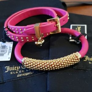 2 Juicy Couture leather bracelets